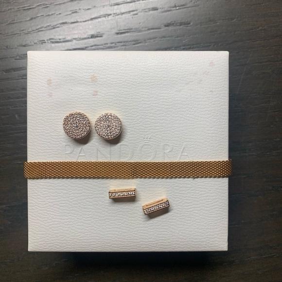 Pandora Reflexions Mesh Bracelets w/ Charms